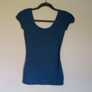 Garage cap sleeve Tee Sz Xs Teal